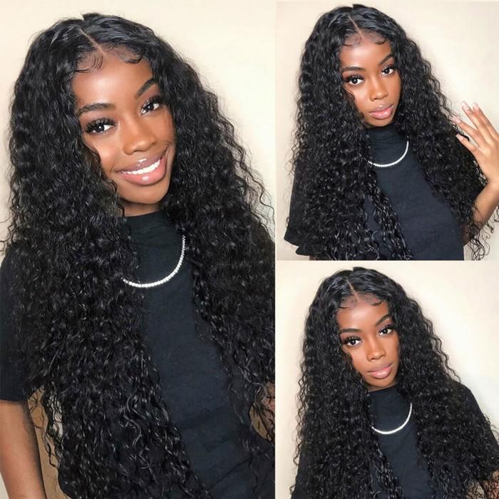 Kriyya Best Brazilian Water Wave Wig 13x4 Lace Front Wigs 150% Density Human Hair