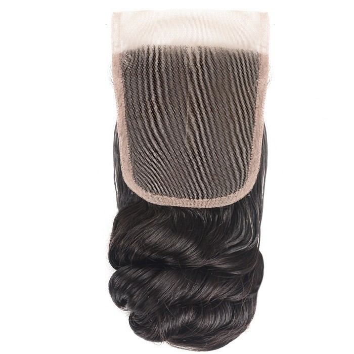 Kriyya Pre-Plucked Loose Wave Virgin Human Hair 4x4 Lace Closure