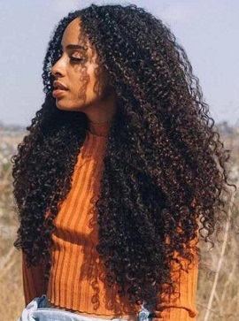 3 Bundles Kinky Curly Hair With Lace Closure