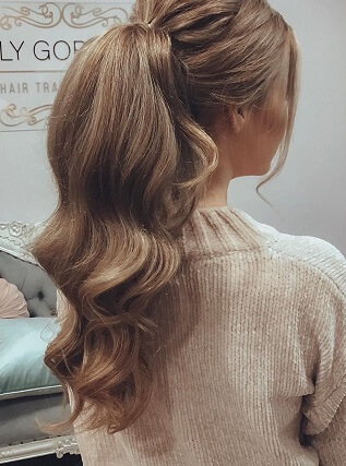 Beauty With Strawberry Blonde Clip In Hair Extensions
