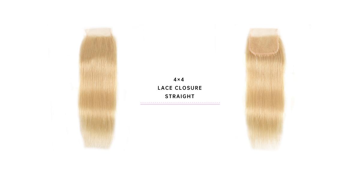 Straight Hair Lace Closure 613 Human Hair