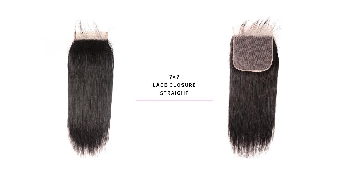 Straight 7x7 Lace Closure Virgin Hair