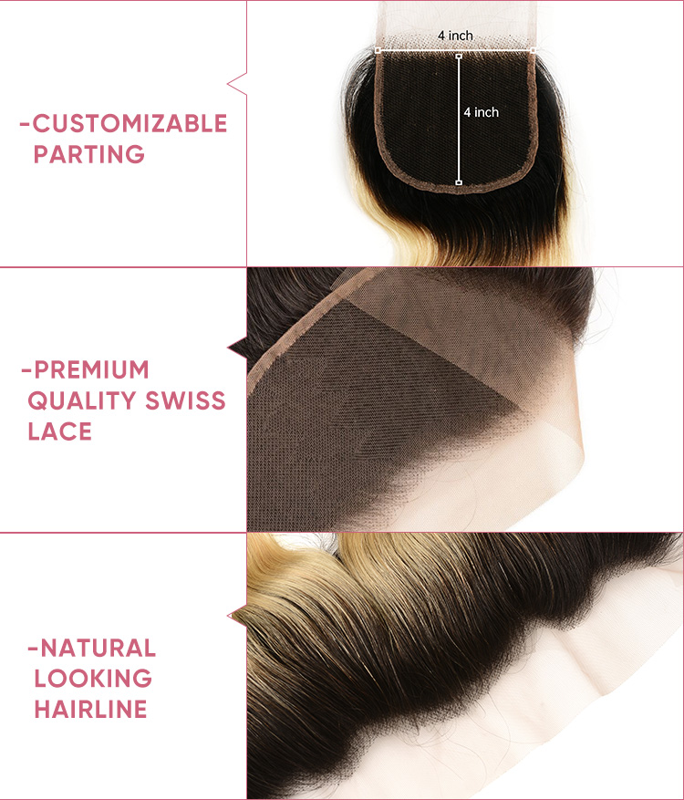 4 Bundles Body Wave With Closure Deal