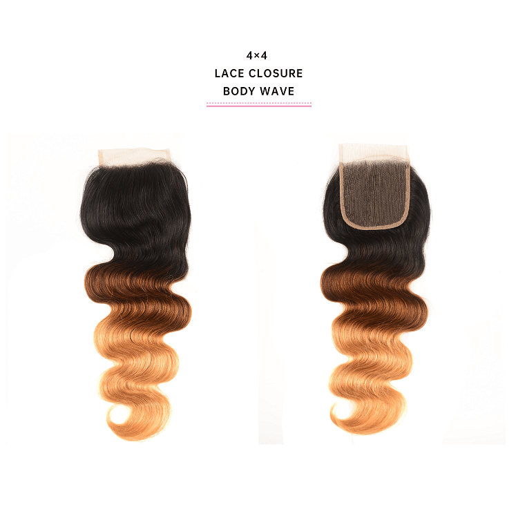 3 Bundles Body Wave Hair With 4x4 Lace Closure