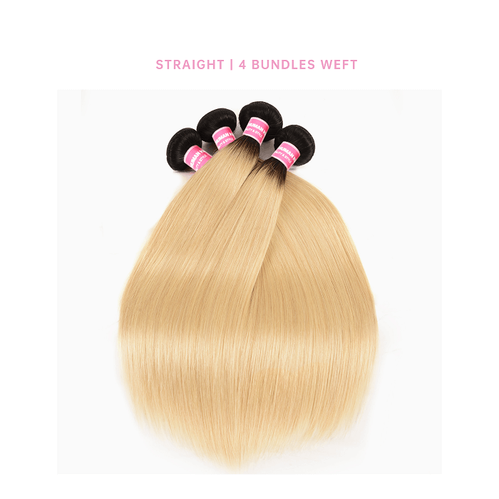 Straight Brazilian 4 Bundles Human Hair Weave