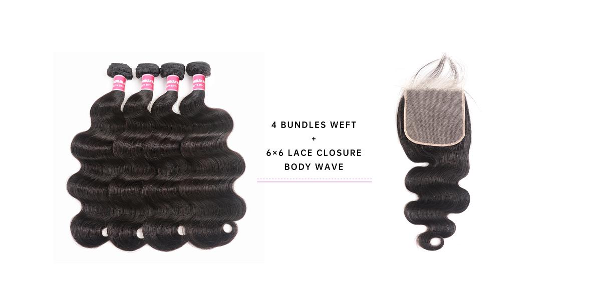 Cheap Bundles With 6x6 Lace Closure