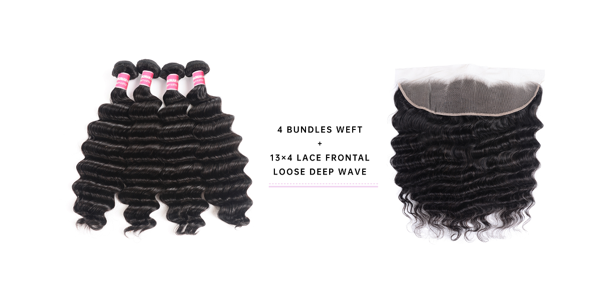 Loose Deep Wave Cheap Bundles With Frontal