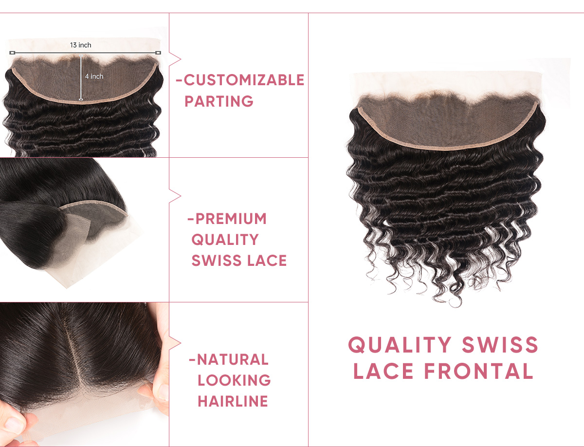 Cheap Loose Deep Wave 4 Bundles With Frontal