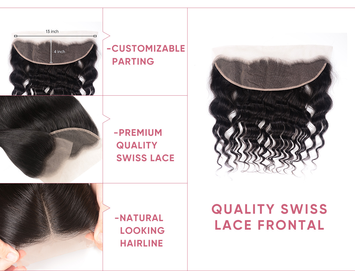 Natural Wave Cheap Bundles With Frontal