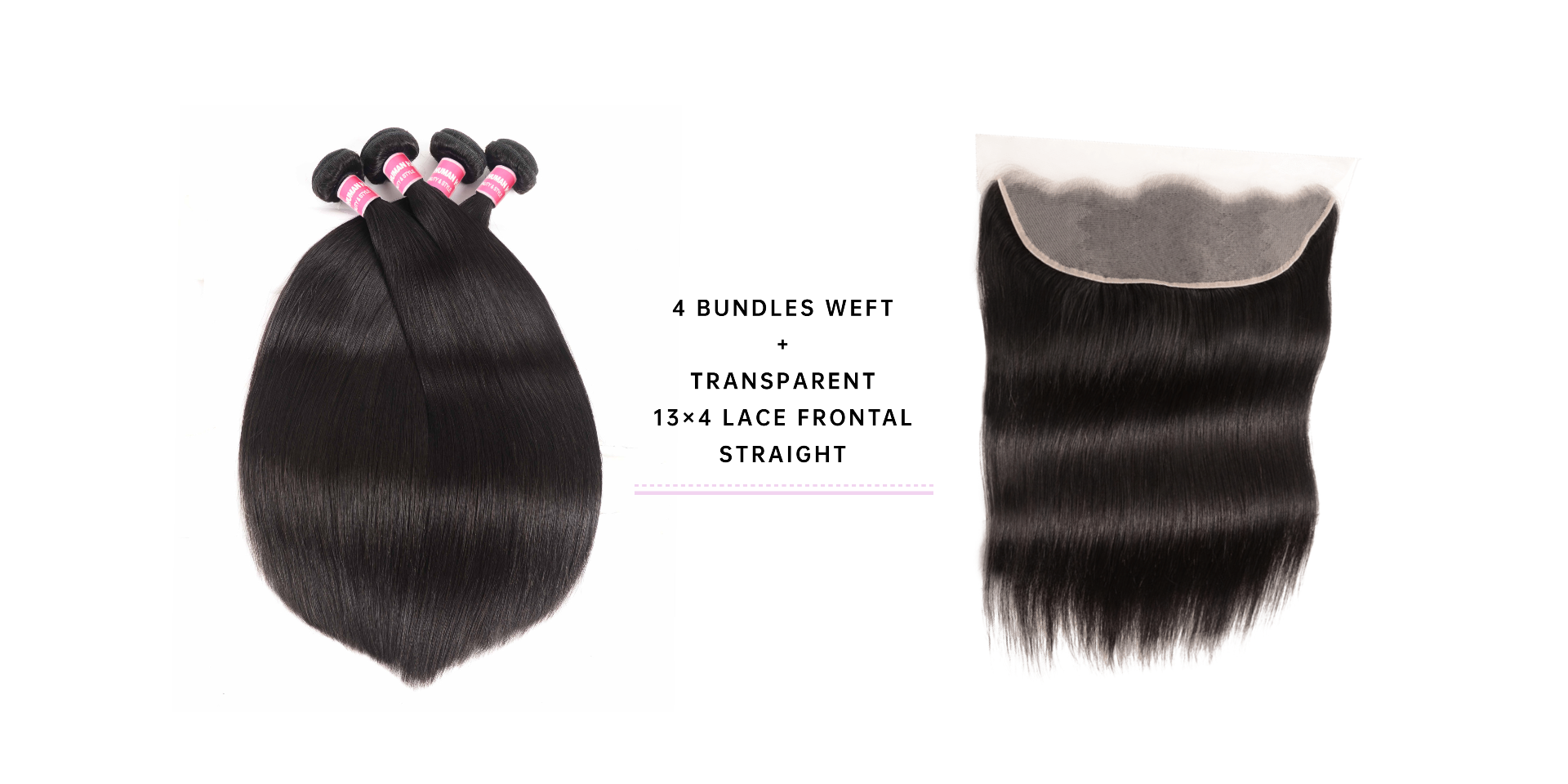 Virgin Hair Bundles Straight With Frontal