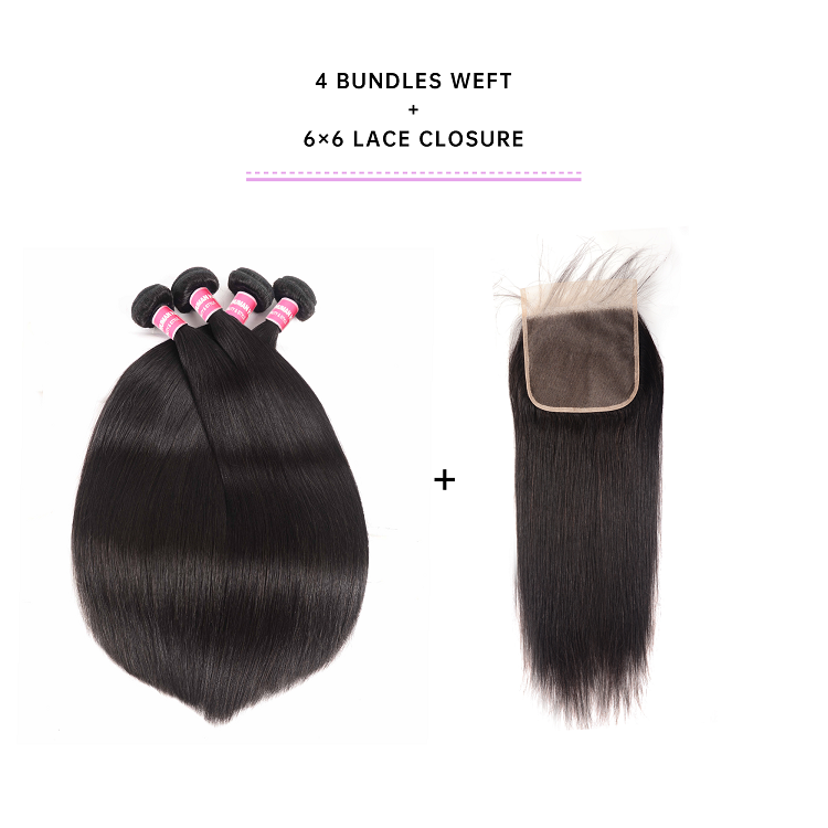 Cheap Straight 4 Bundles With Closure