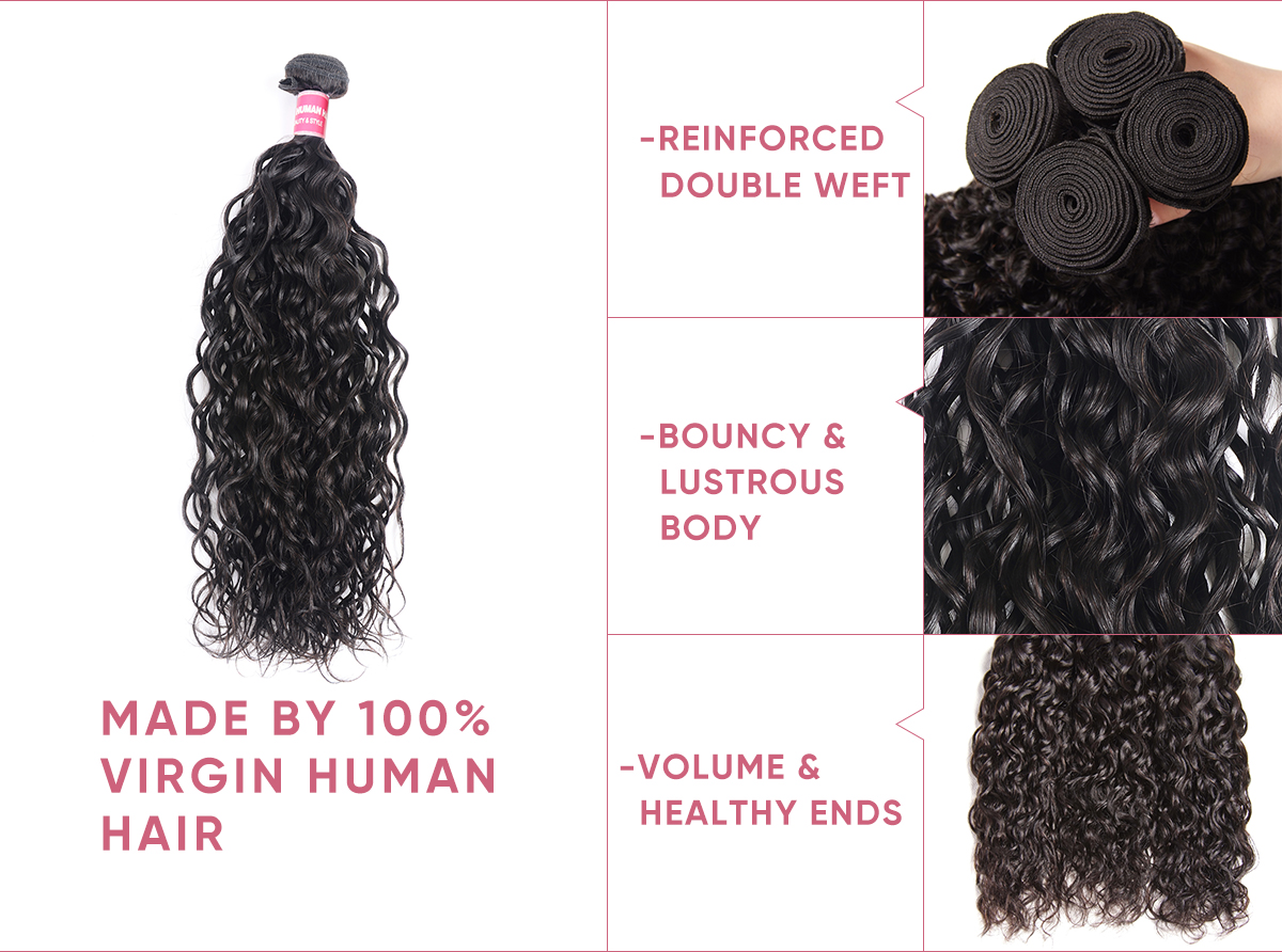 Virgin Hair 4 Bundles With Lace Closure 4x4 Inch