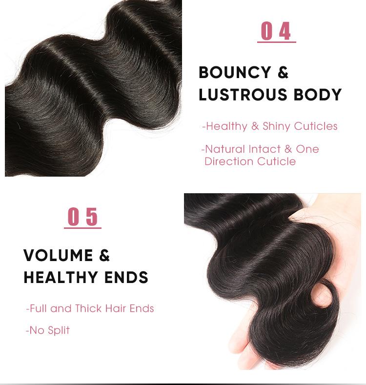 Brazilian Body Wave 5x5 Lace Closure Human Hair