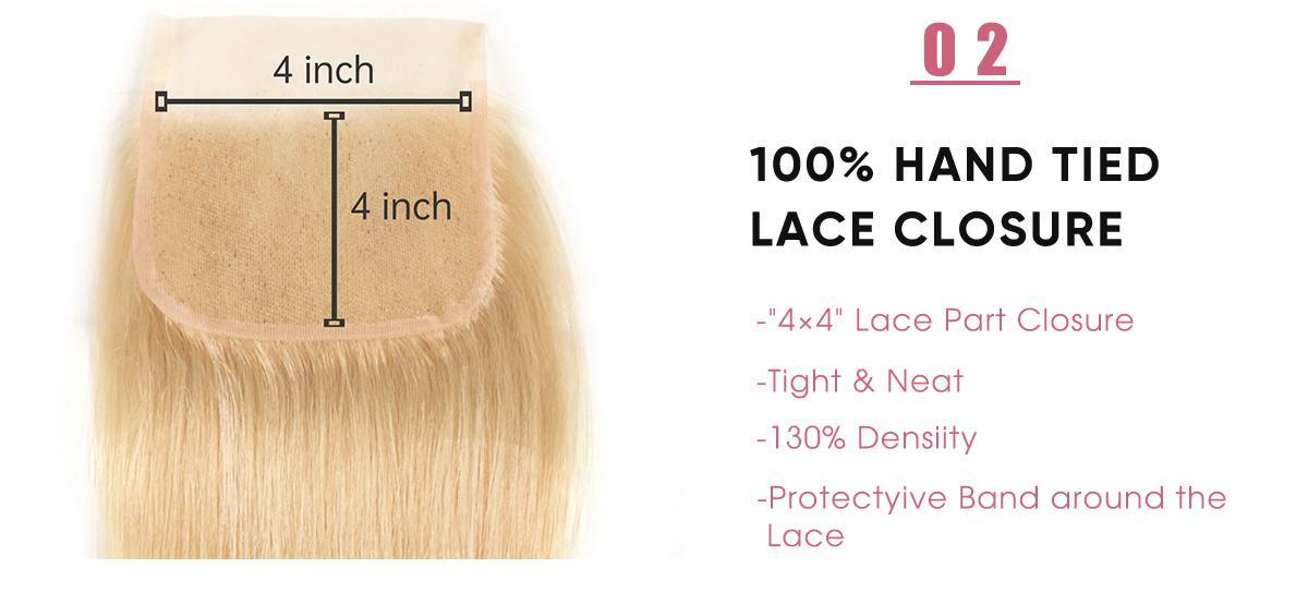Straight Hair Human Hair 4x4 Lace Closure