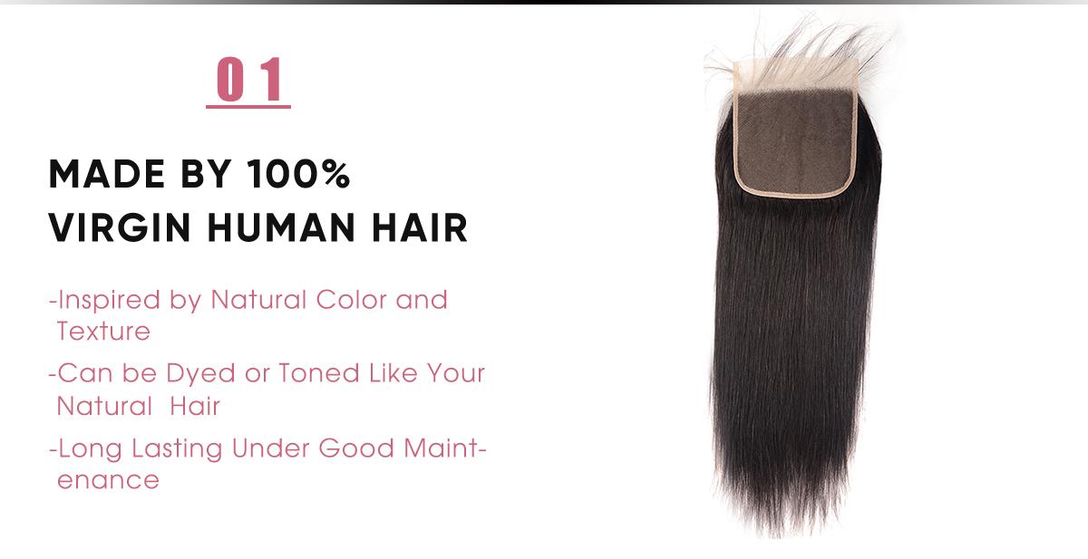 Human Hair Body Wave 6x6 Lace Closure