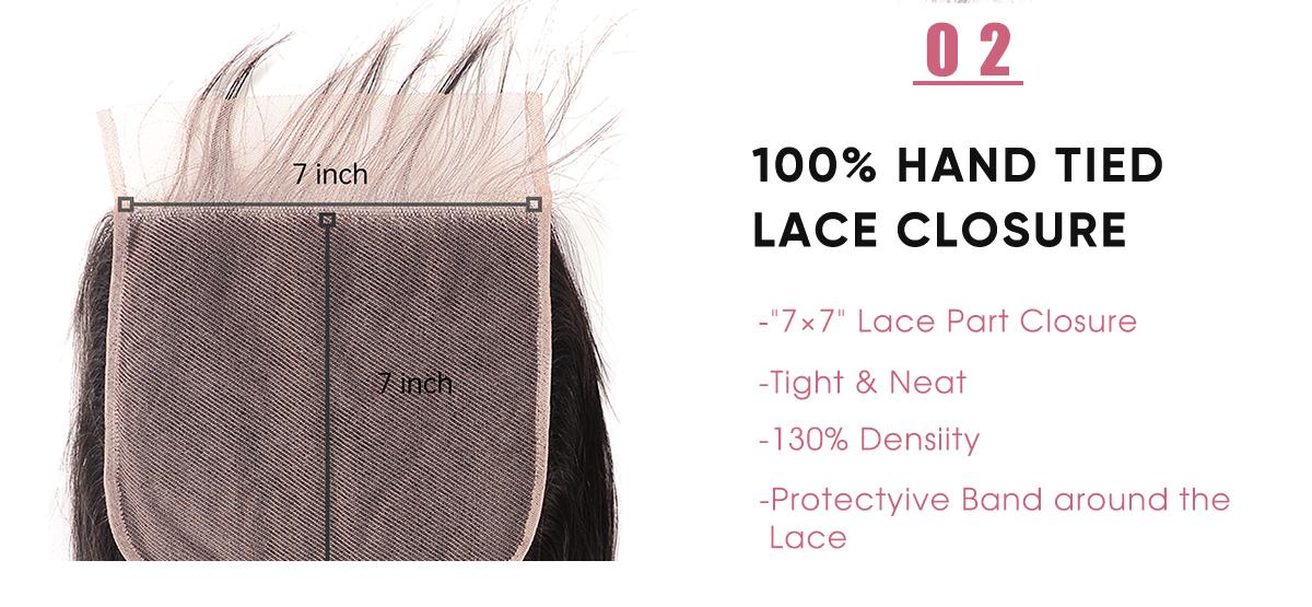 Brazilian 7x7 Lace Closure Virgin Hair