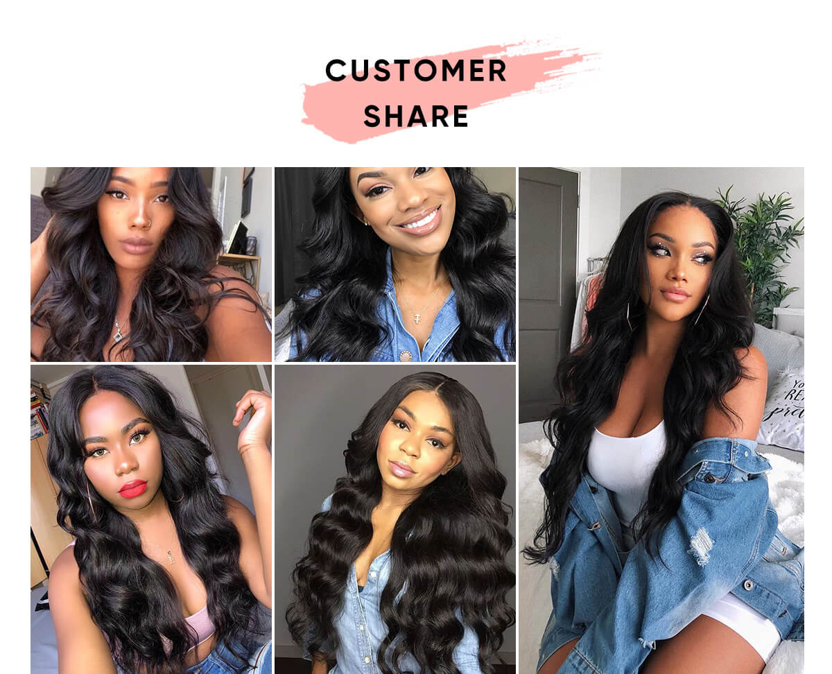 4 Bundles Body Wave With 13x4 Lace Frontal