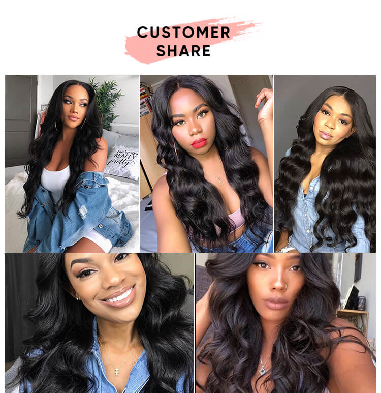 Brazilian Hair Body Wave Bundles With Closure
