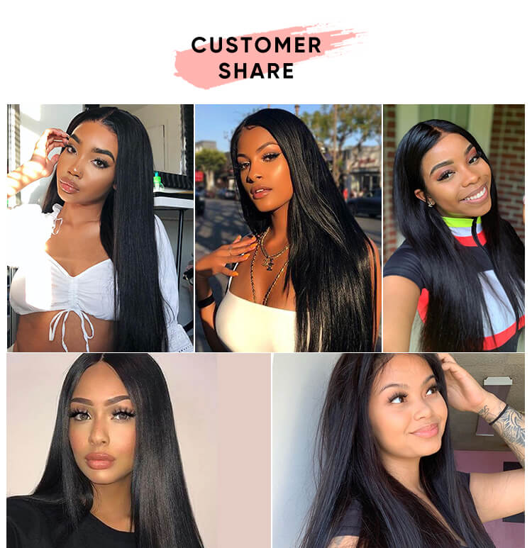 Straight Virgin Hair 3 Bundles With Frontal