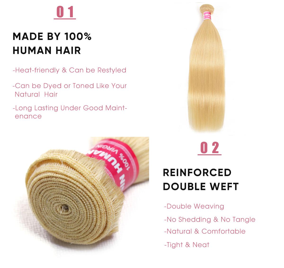 Virgin Hair Straight bundles weave