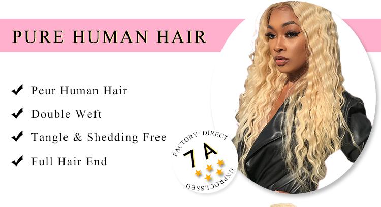 Virgin Hair 613 Deep Wave Weave