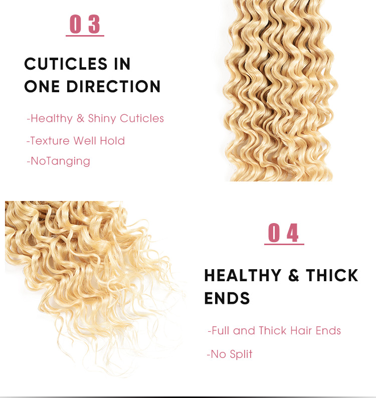 Deep Wave 613 Human Hair Bundles