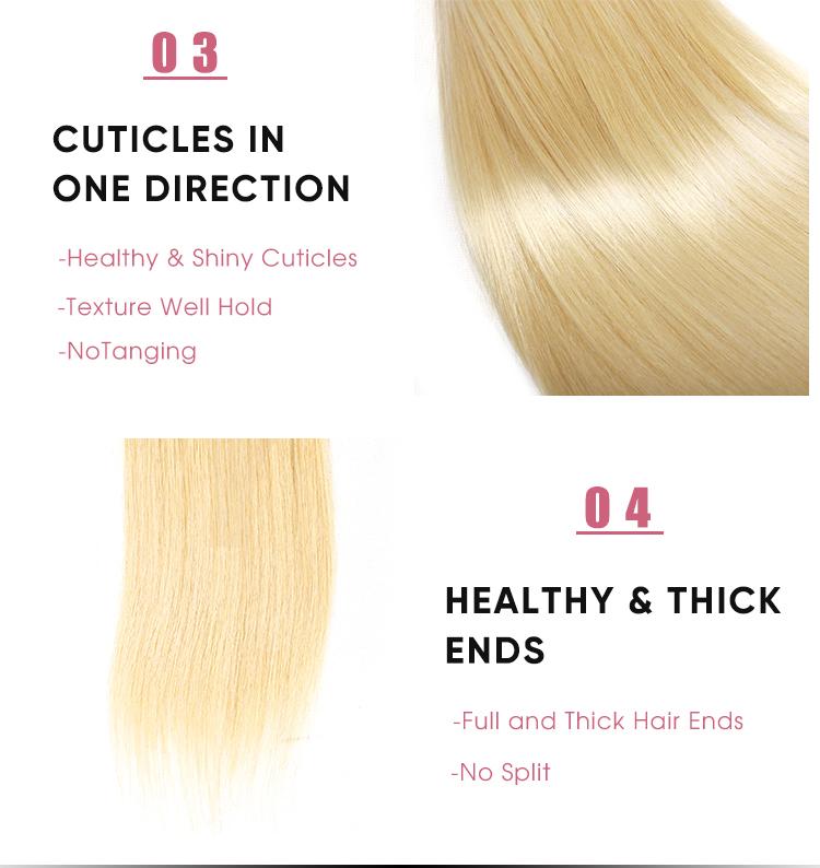 Straight weave 613 Human Hair