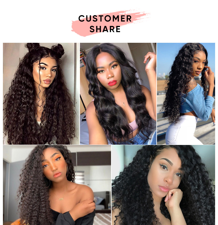 613 Deep Wave 4 Bundles With 13x4 Frontal